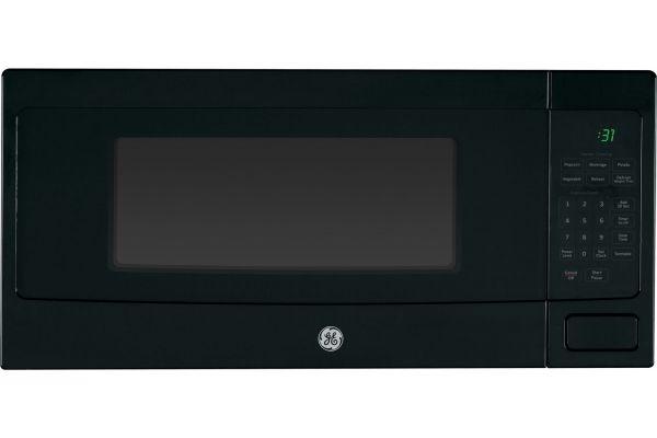 Large image of GE Profile Black Countertop Microwave Oven - PEM31DFBB