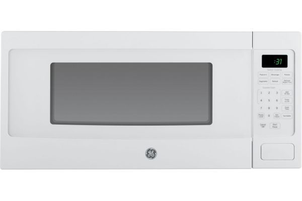 Large image of GE Profile White Countertop Microwave Oven - PEM31DFWW