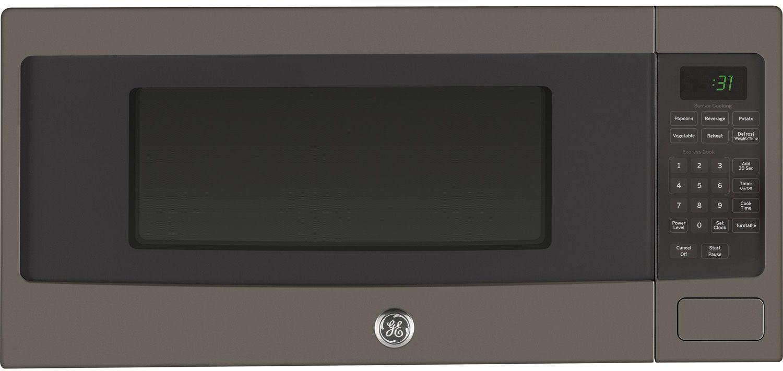 Ge Profile Series 1 Cu Ft Slate Countertop Microwave Oven Pem31efes