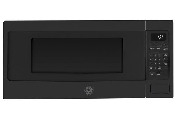 Large image of GE Profile Series 1.1 Cu. Ft. Black Slate Countertop Microwave Oven - PEM31FMDS