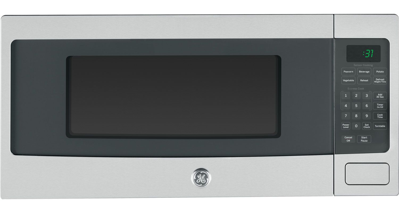 Countertop Microwave Rack : GE Profile Stainless Steel Countertop Microwave Oven - PEM31SFSS