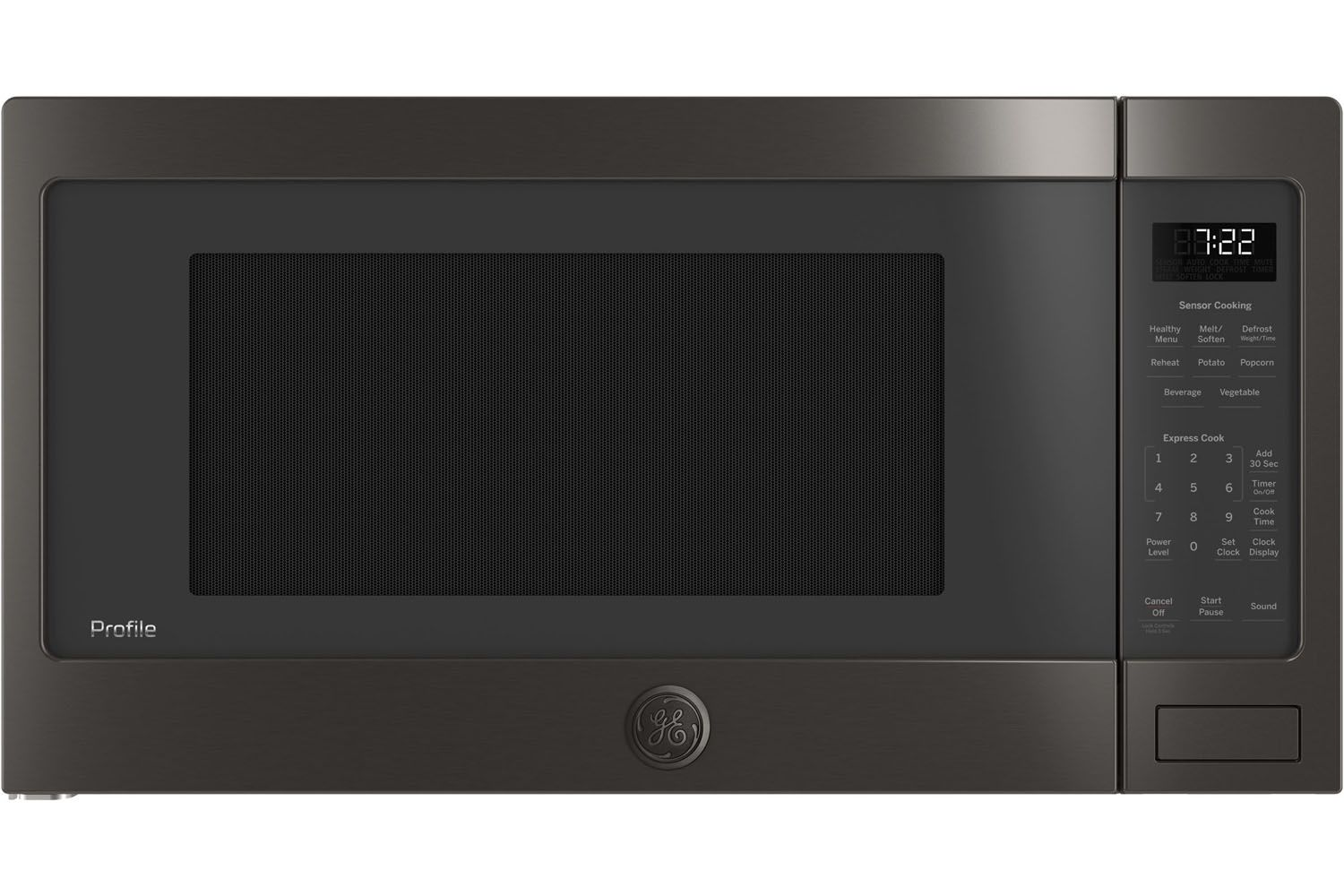 Ge Profile Black Stainless Steel Countertop Microwave Oven Pes7227blts