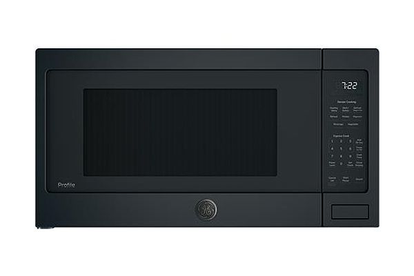 Large image of GE Profile Black Slate Countertop Microwave Oven - PES7227FMDS
