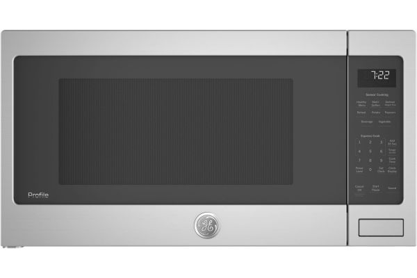 Large image of GE Profile Stainless Steel Countertop Microwave Oven - PES7227SLSS