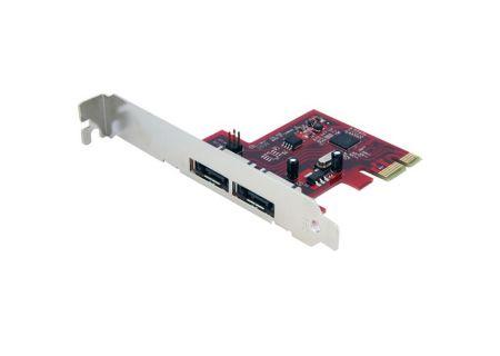 StarTech 2 Port SATA 6 Gbps PCI Express eSATA Controller Card  - PEXESAT32