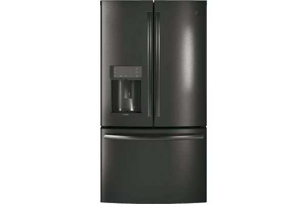 Large image of GE Profile ENERGY STAR 27.7 Cu. Ft. Black Stainless French-Door Refrigerator With Hands-Free AutoFill - PFE28KBLTS
