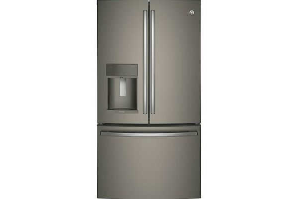 Large image of GE Profile ENERGY STAR 27.7 Cu. Ft. Slate French-Door Refrigerator With Hands-Free AutoFill - PFE28KMKES