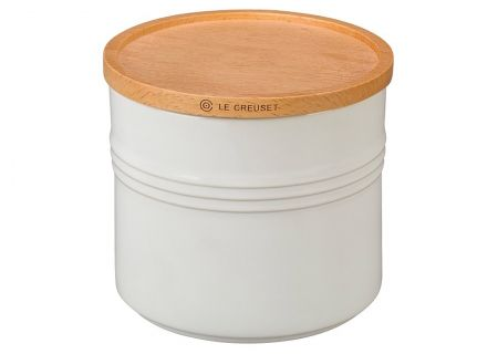 Le Creuset White 1.5 Qt. Stoneware Storage Canister - PG15181416