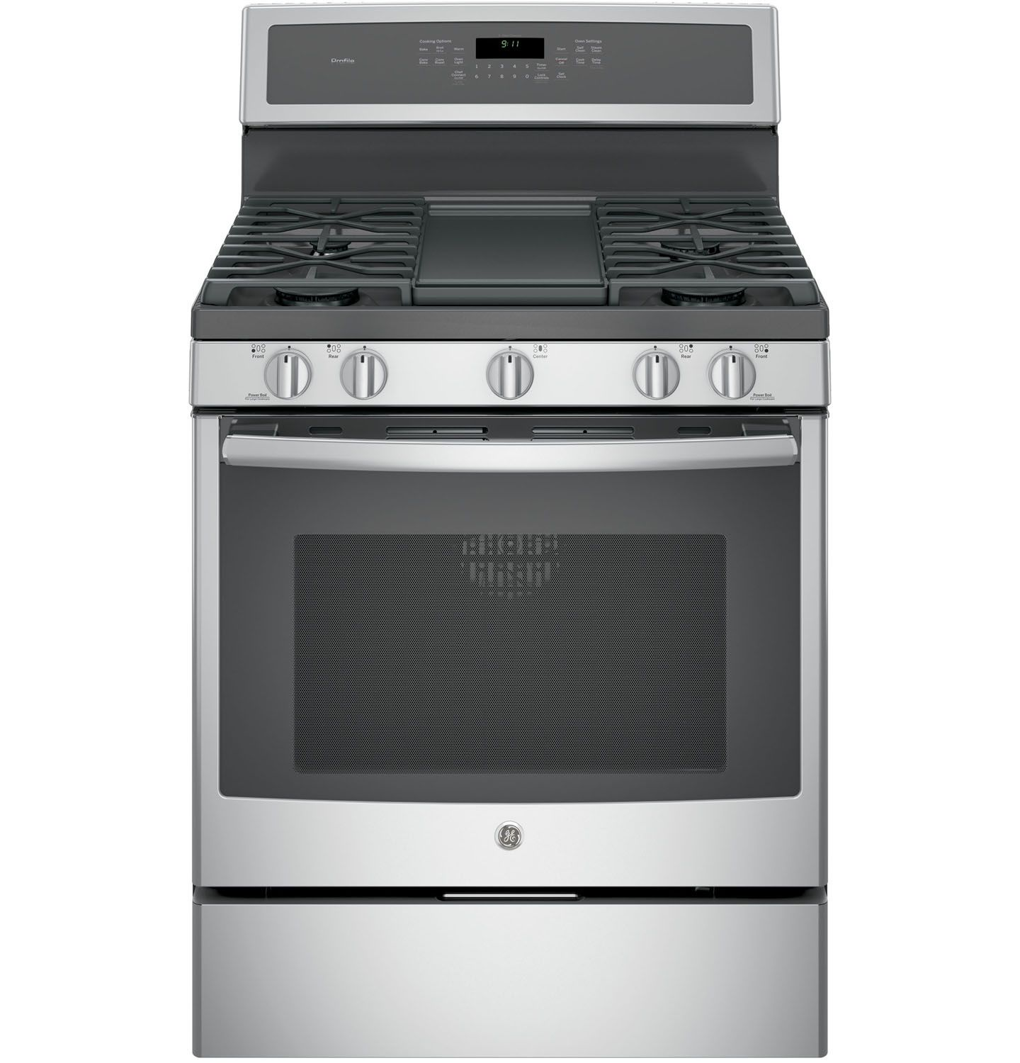 """GE Profile 30"""" Stainless Steel Gas Convection Range - PGB911SEJSS"""