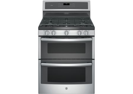"GE Profile 30"" Stainless Steel Double Oven Gas Range - PGB960SEJSS"