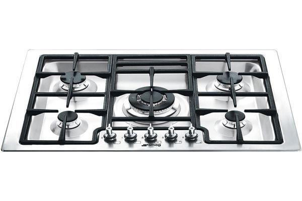 """Large image of Smeg 30"""" Stainless Steel Gas Cooktop - PGFU30X"""
