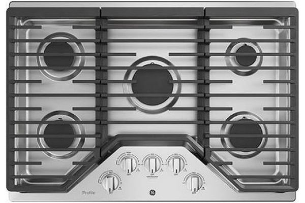 """Large image of GE Profile 30"""" Stainless Steel Gas Cooktop - PGP7030SLSS"""