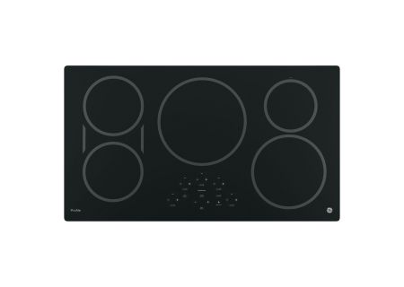 "GE Profile 36"" Black Touch Control Electric Induction Cooktop - PHP9036DJBB"