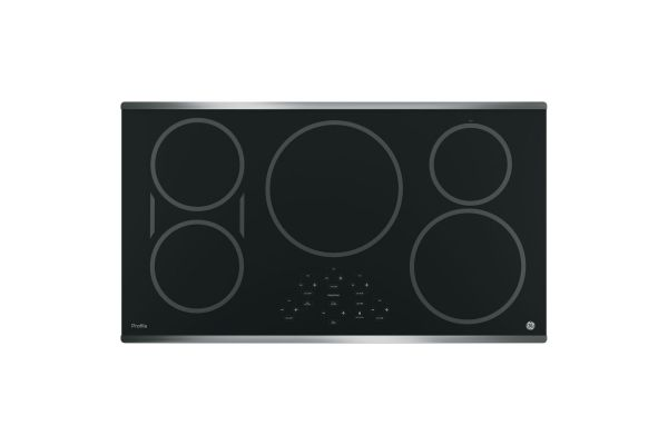 """Large image of GE Profile 36"""" Stainless Steel Touch Control Electric Induction Cooktop - PHP9036SJSS"""