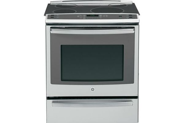 """Large image of GE Profile 30"""" Stainless Steel Slide-In Induction And Convection Range - PHS920SFSS"""