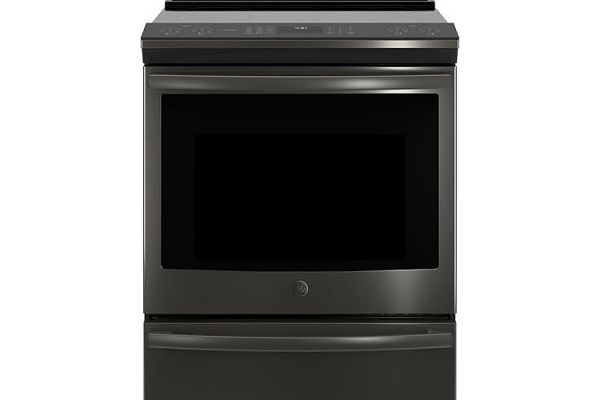 """GE Profile 30"""" Black Stainless Steel Slide-In Induction Convection Range - PHS930BLTS"""