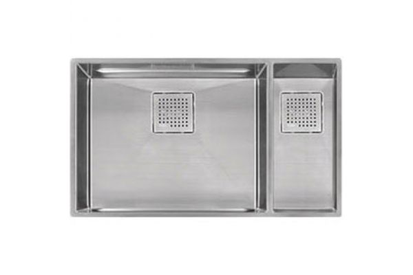 Large image of Franke Peak Series Undermount Stainless Steel Double Bowl Kitchen Sink - PKX160