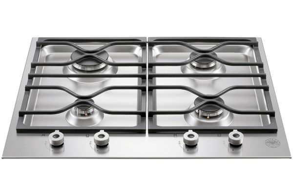 "Bertazzoni 24"" Professional Series Stainless Steel Segmented Gas Cooktop - PM24400X"