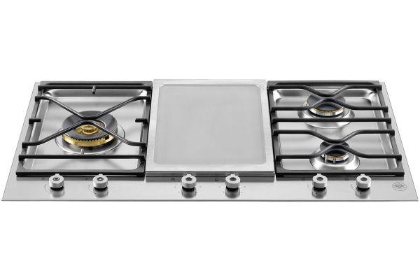 "Bertazzoni 36"" Professional Series Stainless Steel Segmented Gas Cooktop - PM3630GX"