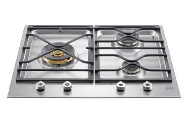 "Bertazzoni Professional Series 24"" Stainless Steel Gas Cooktop  - PMB24300X"