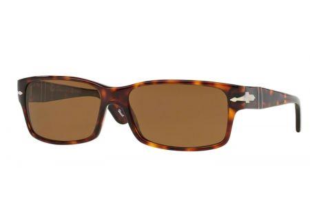 Persol Havana Rectangle Mens Sunglasses - PO2803S 24/57 58
