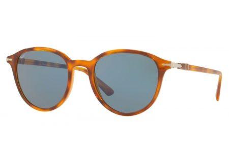 Persol Token Light Havana Round Sunglasses - 0PO3169S 105256 50