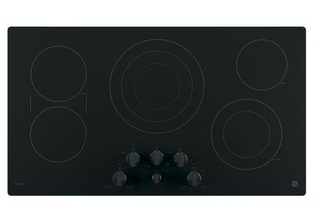 """GE Profile Series 36"""" Black Electric Cooktop - PP7036DJBB"""