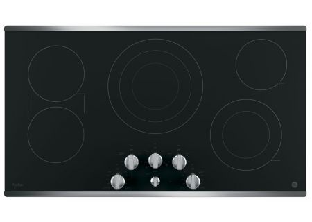 "GE Profile Series 36"" Stainless Steel Electric Cooktop - PP7036SJSS"