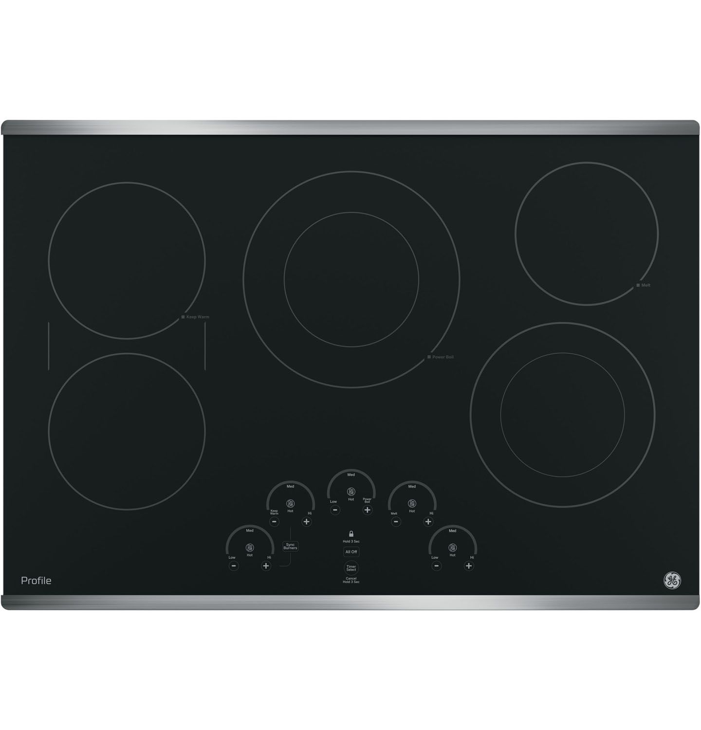 Ge Profile Cooktop ~ Ge profile stainless electric cooktop pp sjss