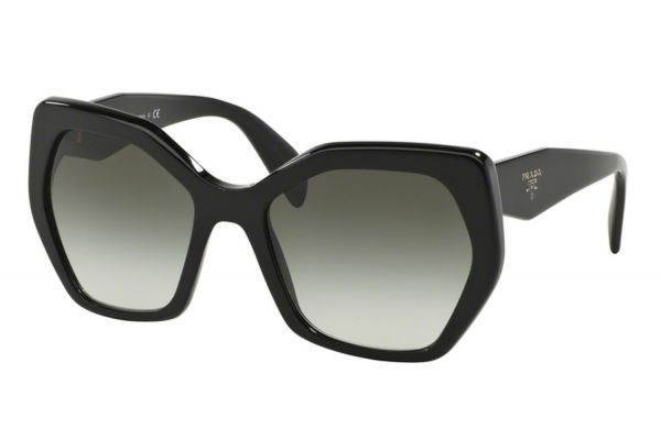 Large image of Prada Irregular Black Womens Sunglasses - PR16RS 1AB0A7