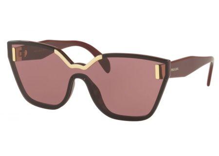 Prada Cat Eye Bordeaux Womens Sunglasses - 0PR 16TS TY7098 48