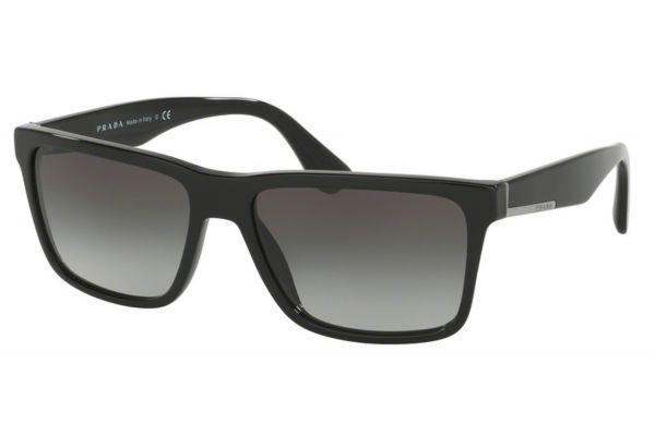 Large image of Prada Black Square Mens Sunglasses - PR 19SS1AB0A7