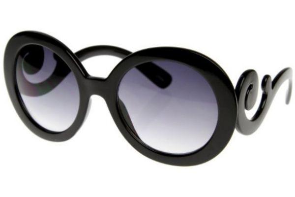 Large image of Prada Minimal Round Black Womens Sunglasses - PR 27NS 1AB3M1