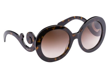 Prada Minimal Baroque Havana Round Brown Womens Sunglasses - PR 27NS 2AU6S1 55