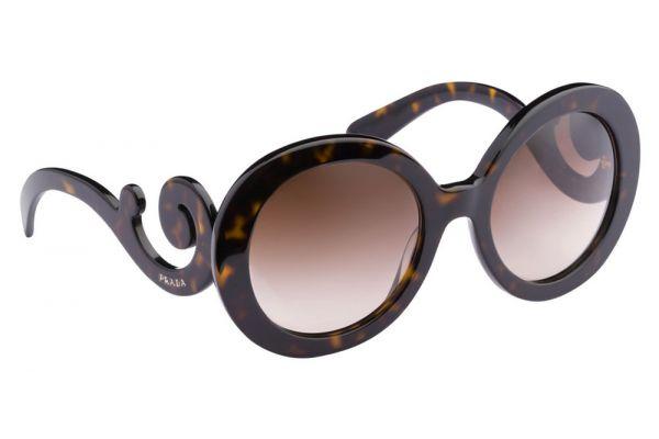 Large image of Prada Minimal Baroque Havana Round Brown Womens Sunglasses - PR 27NS 2AU6S1 55