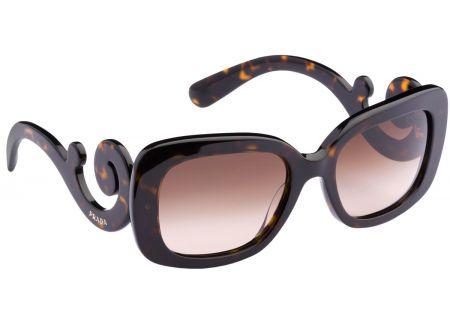 Prada Minimal Baroque Havana Brown Rectangle Womens Sunglasses - PR27OS 2AU6S1