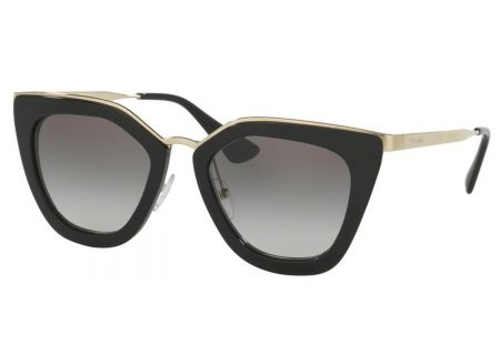 Prada Black Cat Eye Womens Sunglasses - PR53SS 1AB0A7