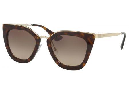 Prada Havana Cat Eye Womens Sunglasses - PR53SS 2AU3D0