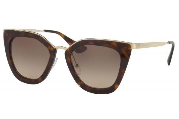 Large image of Prada Havana Cat Eye Womens Sunglasses - PR53SS 2AU3D0