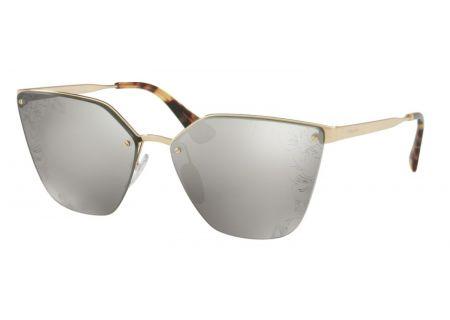 Prada Cat Eye Pale Gold Womens Sunglasses - 0PR 68TS ZVN121 63