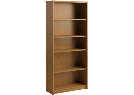 Bush Furniture 5-Shelf Bookcase Natural Cherry - PR76365