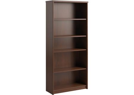 "Bush Furniture 30"" 5-Shelf Bookcase Cherry - PR76565"