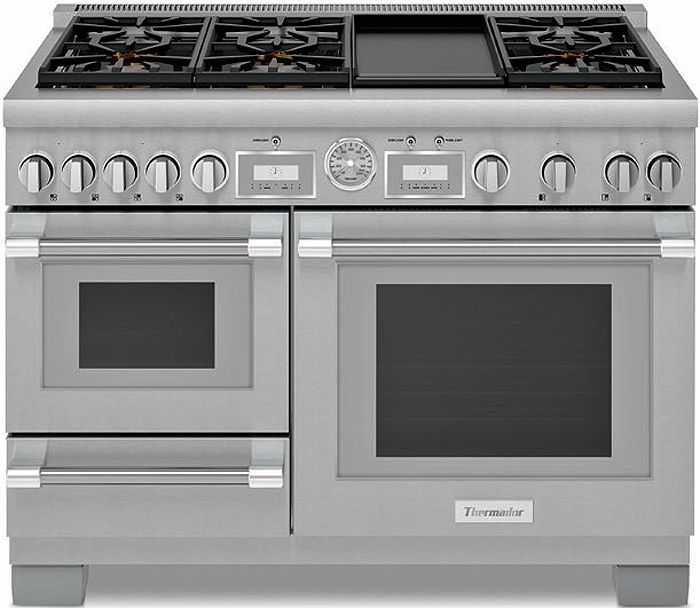 Thermador 48 Pro Grand Stainless Steel Dual Fuel Range
