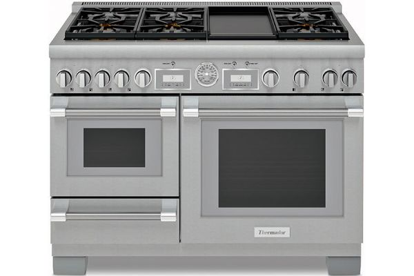 "Thermador 48"" Pro Grand Stainless Steel Dual Fuel Range - PRD48WDSGU"