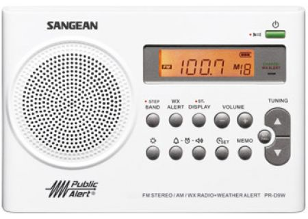 Sangean AM FM Weather Alert Portable Radio - PR-D9W