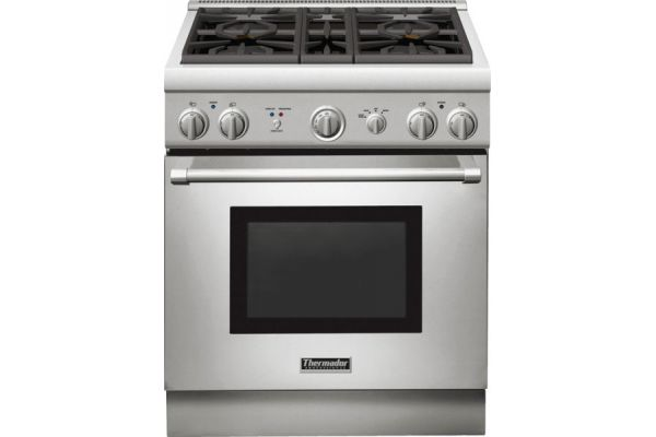 "Thermador 30"" Pro-Style Stainless Steel Natural Gas Range - PRG304GH"