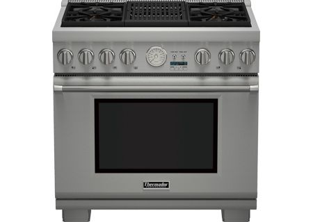 """Thermador 36"""" Professional Series Pro Grand Commercial Depth Gas Range - PRG364NLG"""