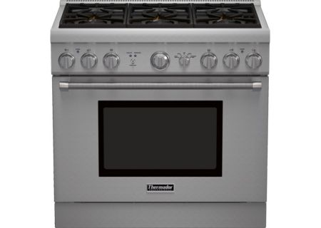 """Thermador 36"""" Pro-Style Stainless Steel Natural Gas Range - PRG366GH"""