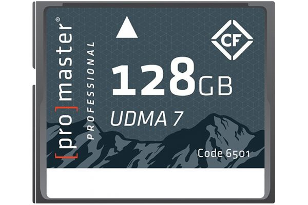 Large image of ProMaster Professional 128GB Compact Flash UDMA 7 Memory Card - PRO6501