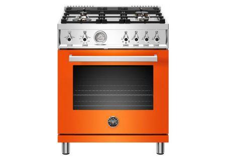 """Bertazzoni Professional Series 30"""" Orange Gas Range - PROF304GASART"""